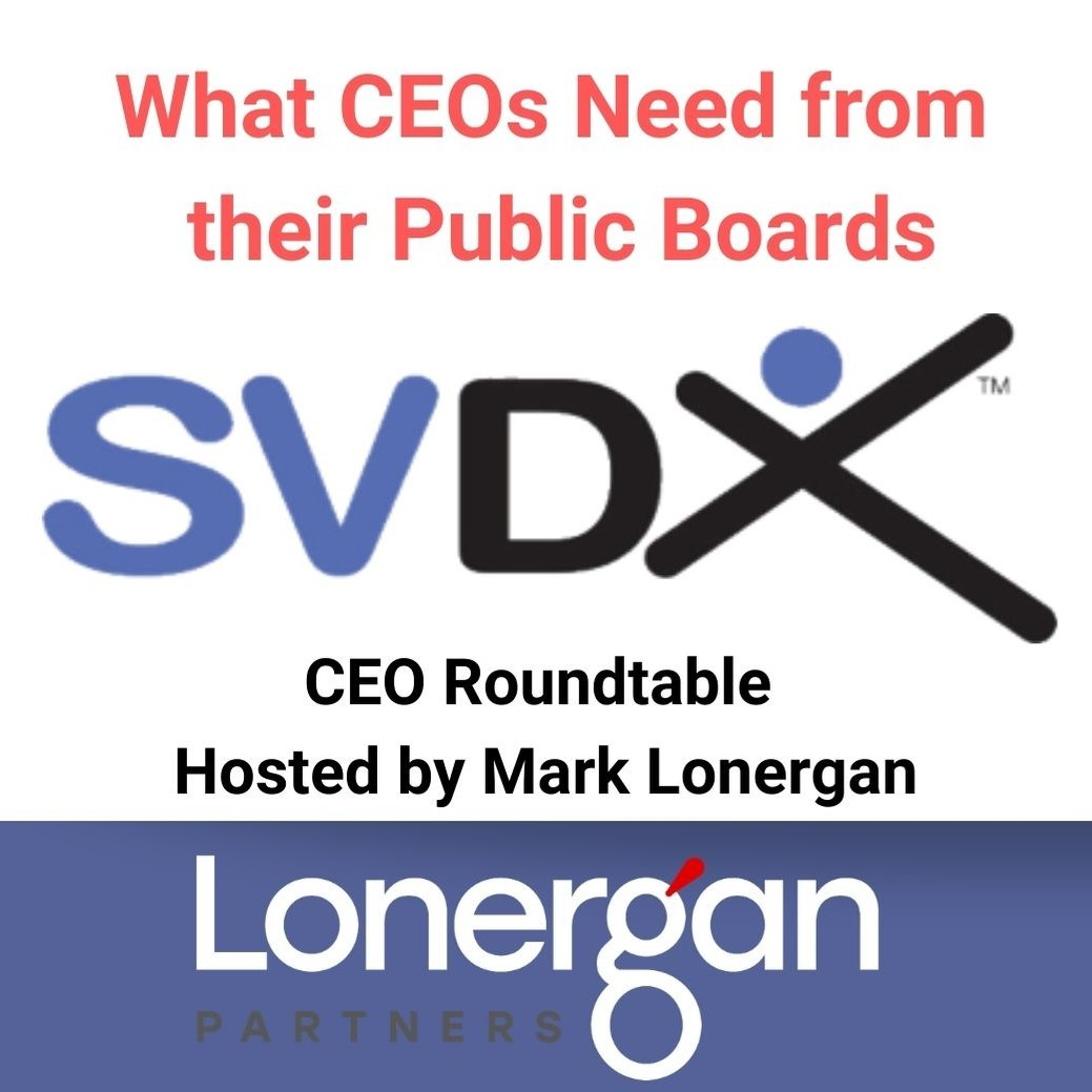 Mark Lonergan Moderates SVDX CEO Panel Thumbnail Image
