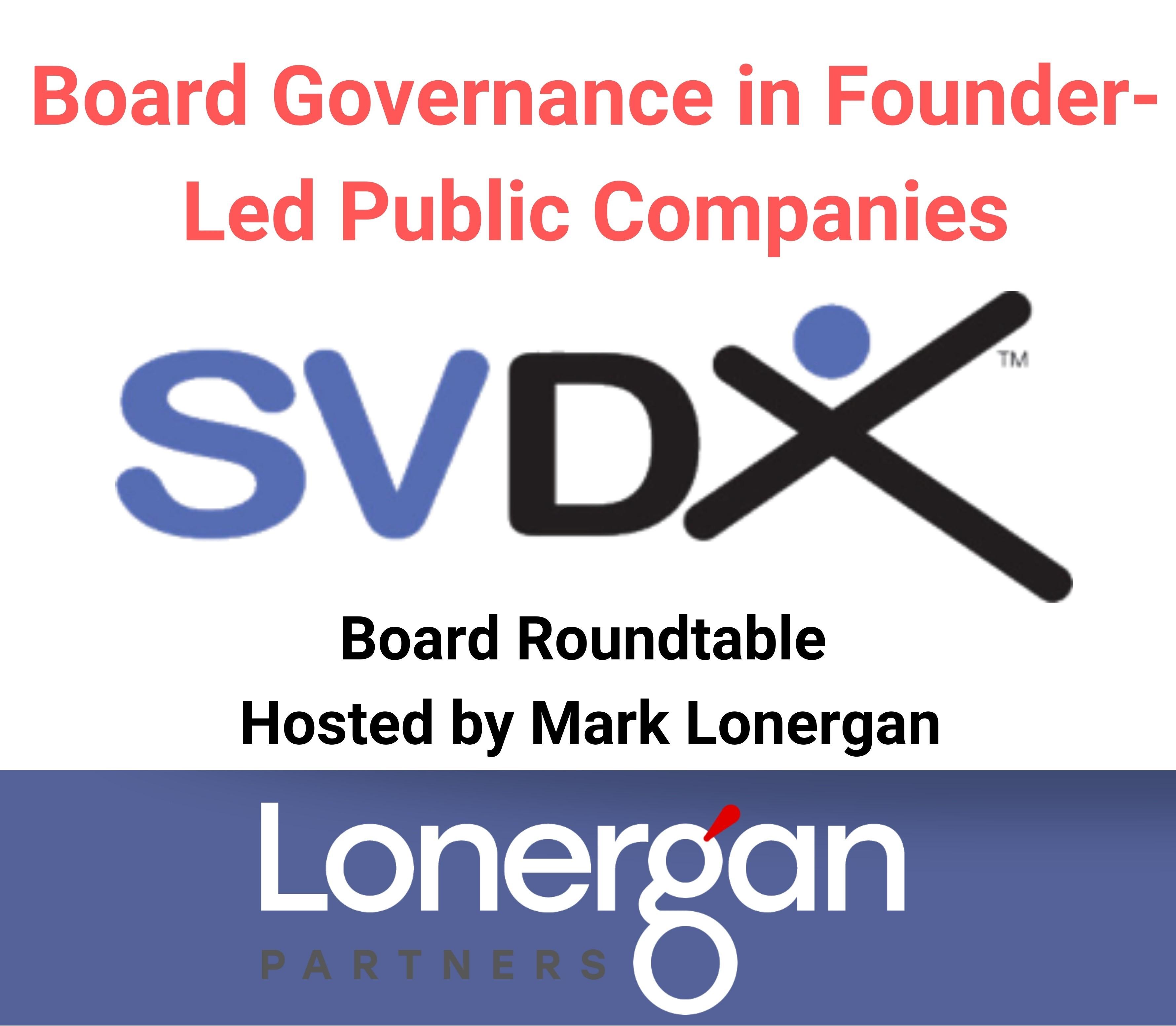 Mark Lonergan Moderates SVDX Panel on Board Governance in Founder-led Public Companies Thumbnail Image